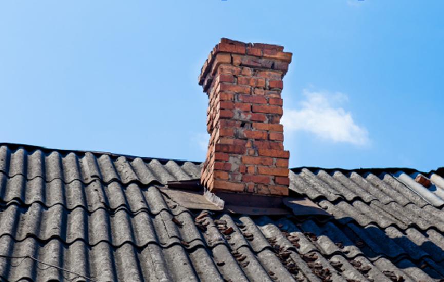 Gammel pipe på taket