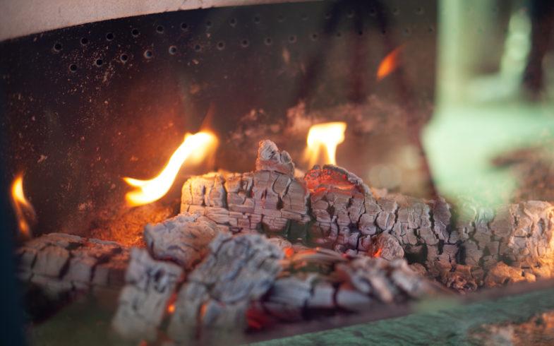Flammer dårlig trekk glør